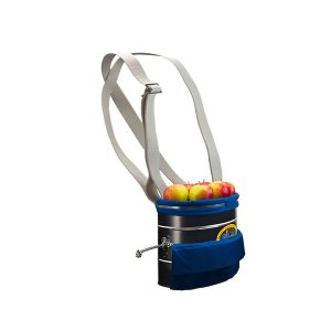 Picking bucket small with cotton carrying strap and PVC inside