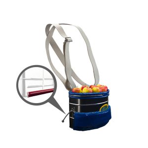 Picking bucket large with coating, strip, pvc and cotton carrying strap